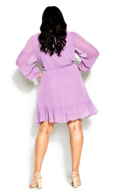 Wild Dobby Dress - lilac