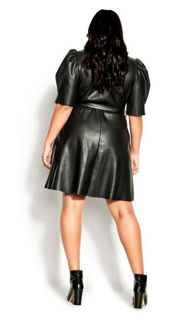 Wild Sleeve Dress - black