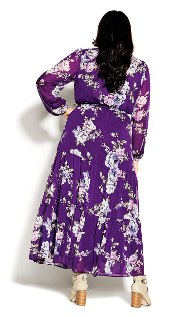 Wild Floral Maxi Dress - petunia