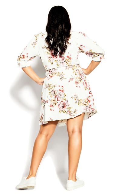 Rose Garden Dress - white
