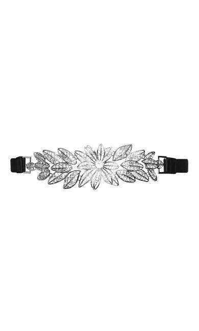 Wild Leaf Belt - silver