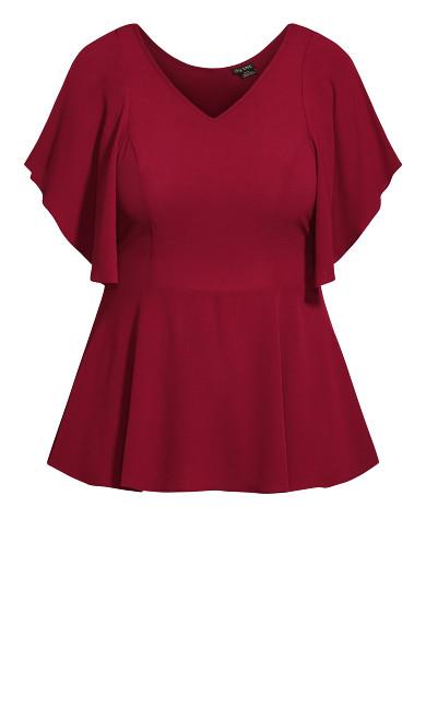 Romantic Mood Top - ruby