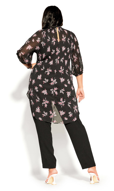 Ditsy Bloom Top - black