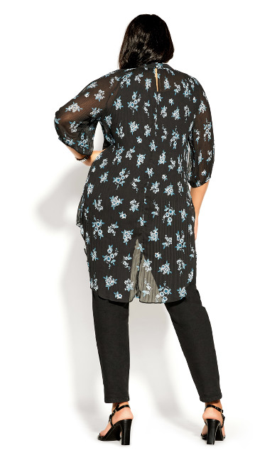Ditsy Bloom Top - peacock