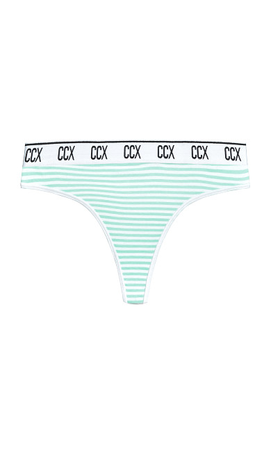 CCX Print Cotton Thong - sky stripe