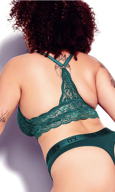 CCX Lace Bralette - emerald