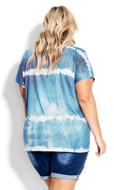 Braylee Tie Dye Top - blue