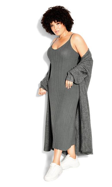 Luxe Knit Dress - steel