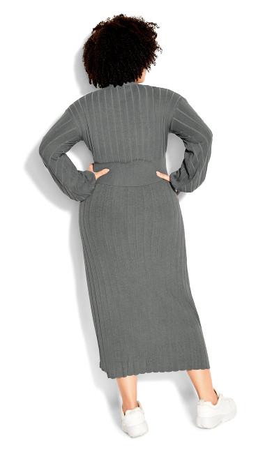 Sassy Knit Cardigan - steel