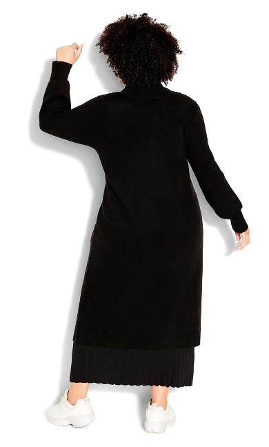 Luxe Knit Cardigan - black