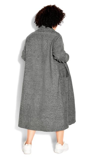 Luxe Knit Cardigan - steel