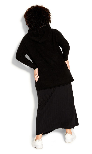 Knit Pocket Jumper - black