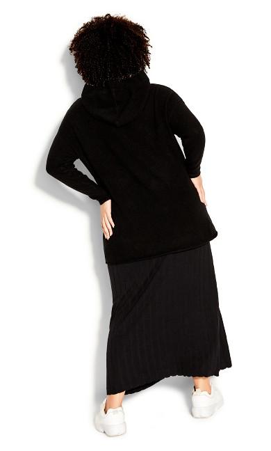 Knit Pocket Jumper - black