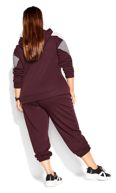 Rookie Relaxed Pant - maroon