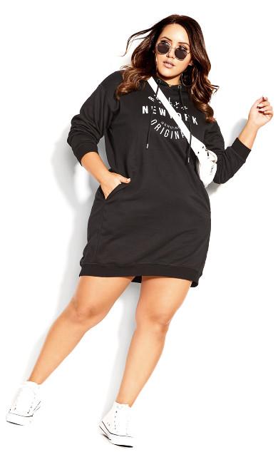 Hoodie Rookie Dress - black