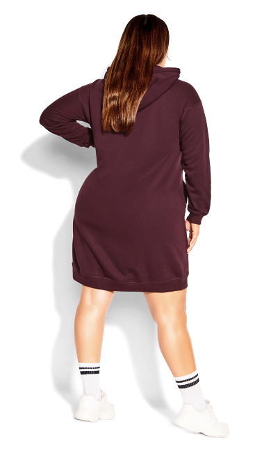 Hoodie Rookie Dress - maroon