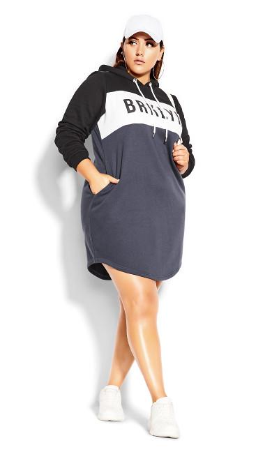 Rookie Spliced Dress - graphite