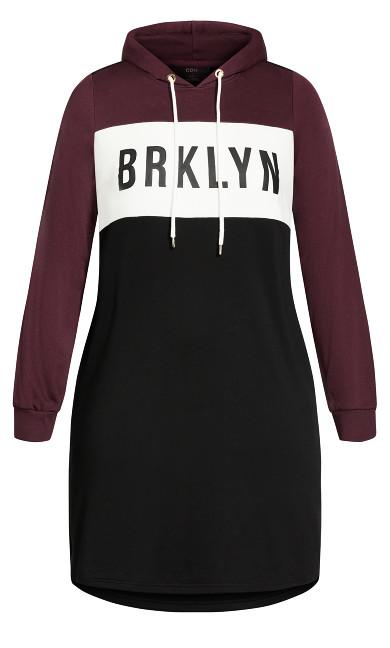 Rookie Spliced Dress - black