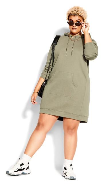 Hoodie Chillax Dress - sage