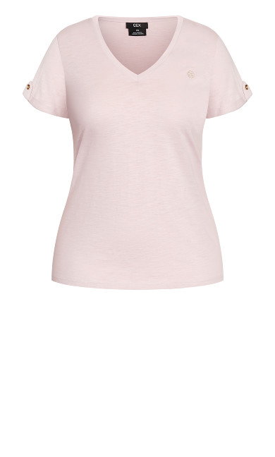 Sweetly Embroidered Top - iced pink