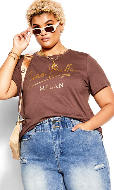 Gold Bella Tee - dusk