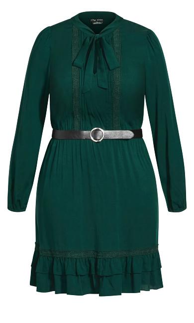 Precious Tie Dress - jade