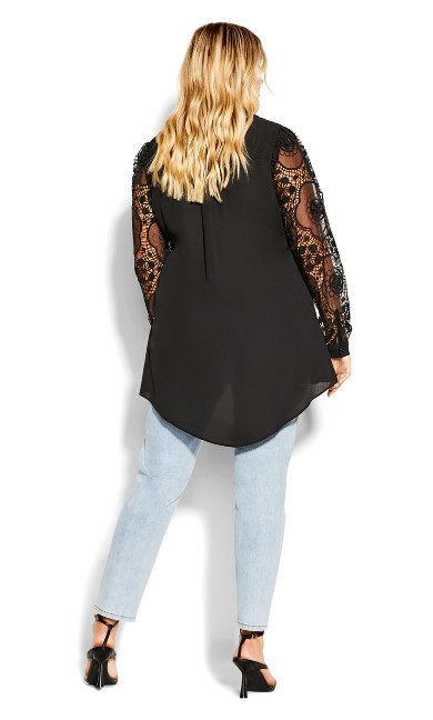 Precious Lace Top - black