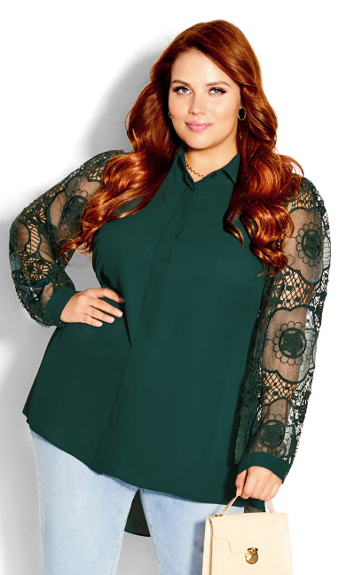 Precious Lace Top - jade
