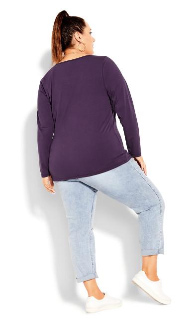 Everyday Long Sleeve Top - violet
