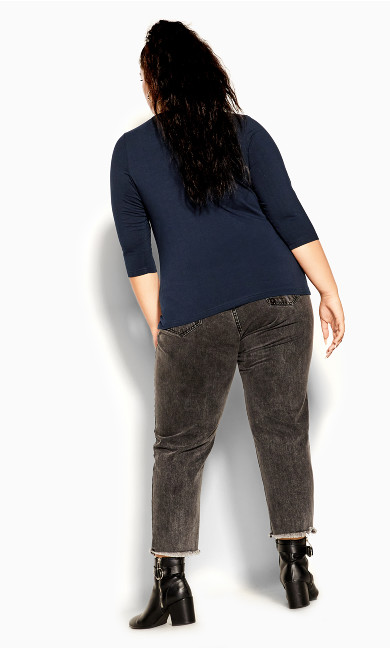 Sweet 3/4 Top - french navy