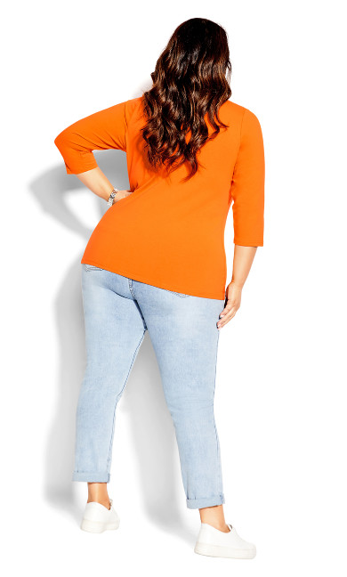 Sweet 3/4 Sleeve Top - mango