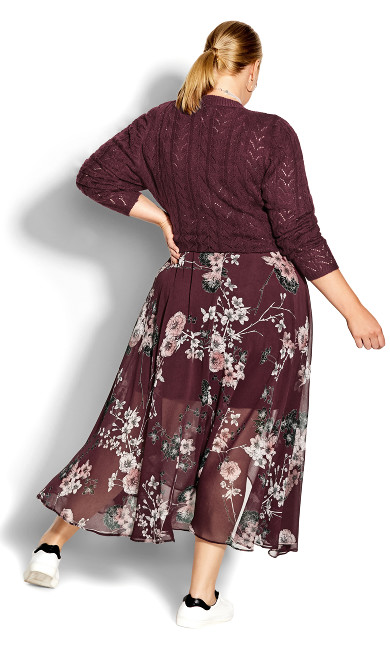 Bold Lace Jumper - bordeaux