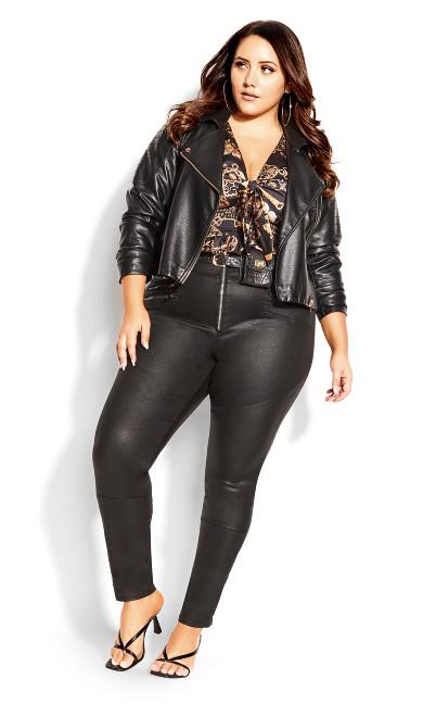 Skylar Zip Corset Jean - black
