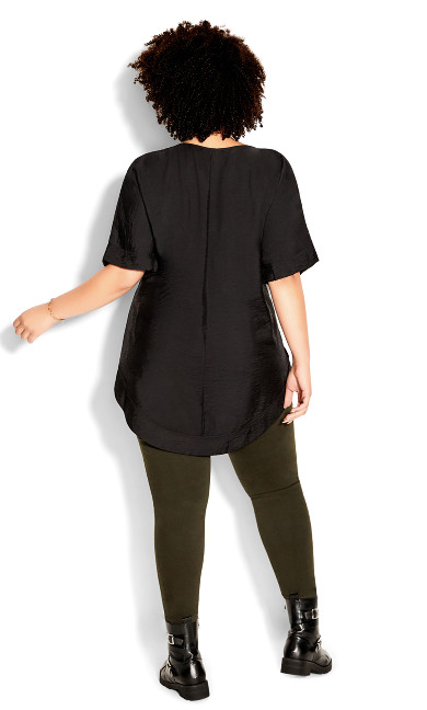 Hi Lo Urban Top - black
