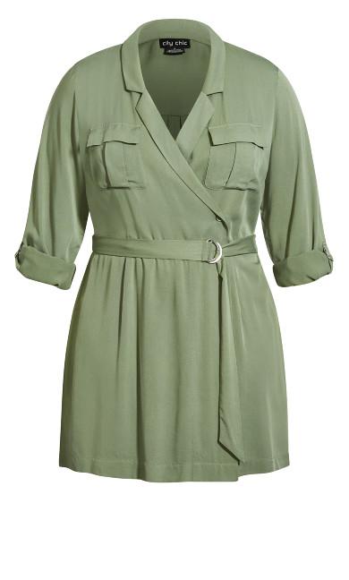Urban D Ring Dress - khaki