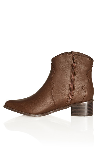 Raquel Ankle Boot - dark brown