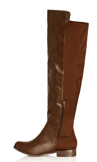 Calista Knee Boot - chocolate