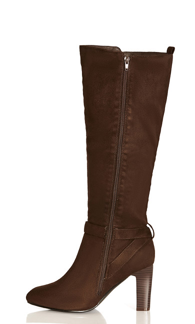 Tara Knee Boot - dark brown