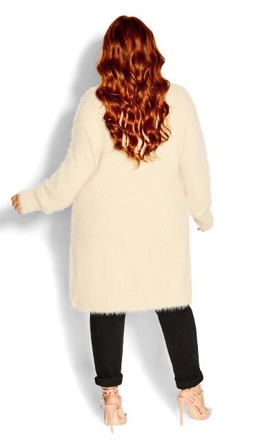 Fluffy Cardigan - cream