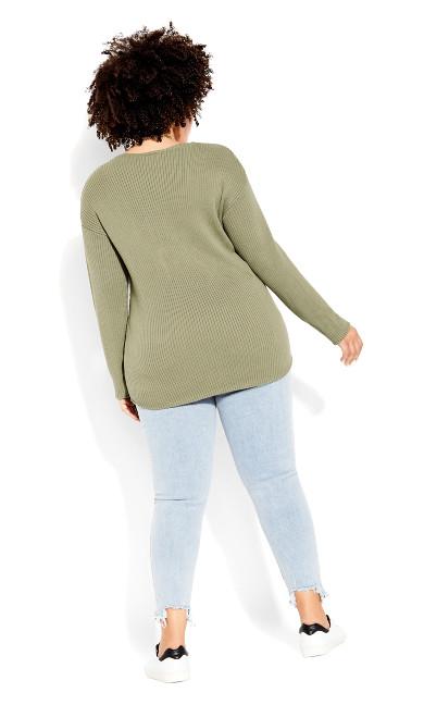 Simple V Neck Jumper - winter pear