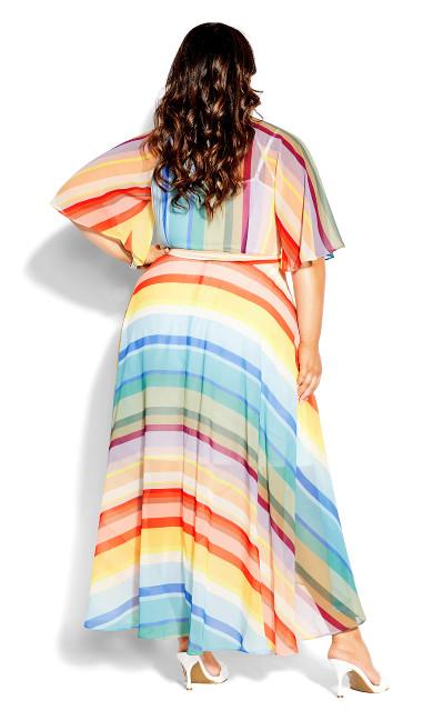 Gelato Stripe Maxi Dress - gelato stripe