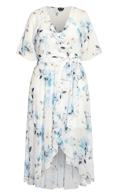 Shy Orchid Maxi Dress - white