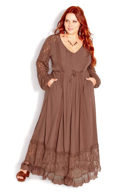Fallen Angel Maxi Dress - mocha