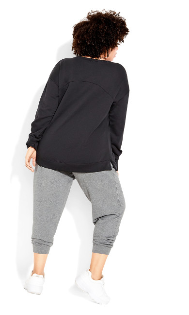 Tempo Sweat Top - black
