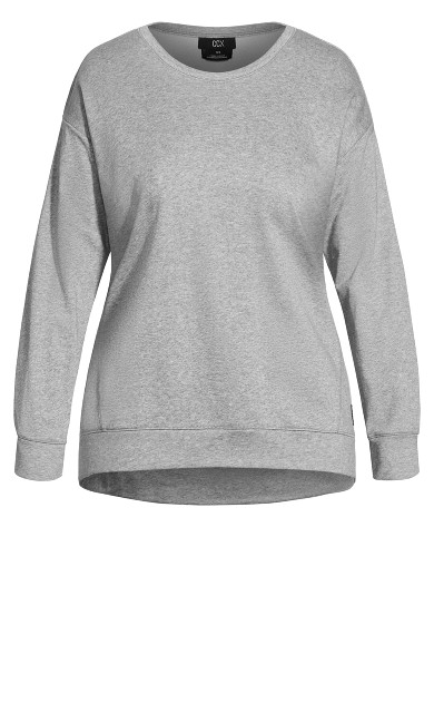 Tempo Sweat Top - grey marle