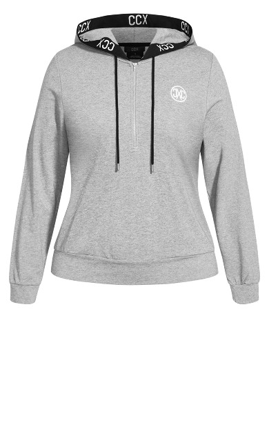 Tempo Hoodie - grey marle