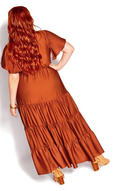 Tiered Shine Dress - bronze