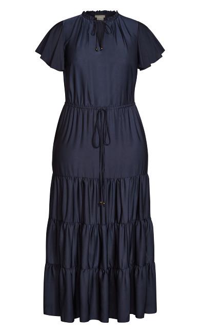 Tiered Shine Dress - slate
