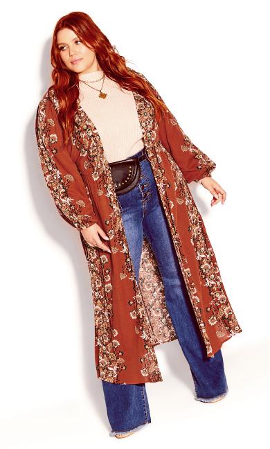 Heavenly Floral Jacket - bronze