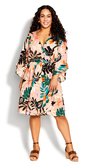 Plus Size Day Date Mini Dress - light pink
